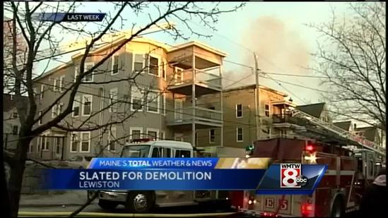 Lewiston often on hook for burned building demolition costs