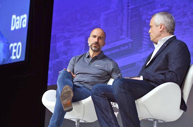 Uber CEO discusses self-driving cars and food delivery by drone