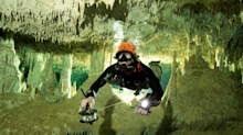 Divers discovered a 215-mile-long underwater cave system in Mexico that's full of Mayan relics