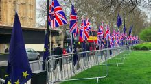 Brexiteers gets up at 6am to replace EU flags at Westminster with 34 Union Jacks