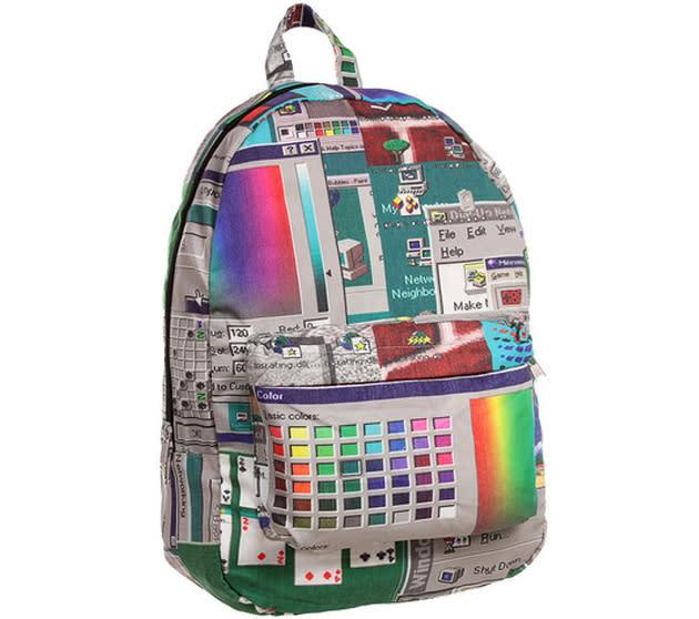 Windows 95 Backpack: Oldschool trifft Glitch zur bunten Unseligkeit