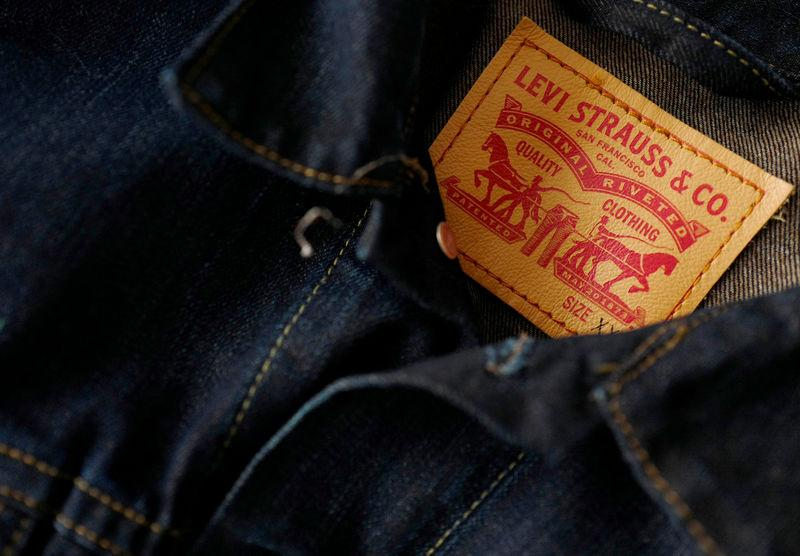 43c573a41f4 FILE PHOTO: The label of a Levi's denim jacket of U.S. company Levi Strauss  is