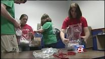 Bonny Eagle students help military families