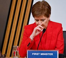 Nicola Sturgeon chokes back tears as she rejects 'absurd' claims she was out to destroy Alex Salmond