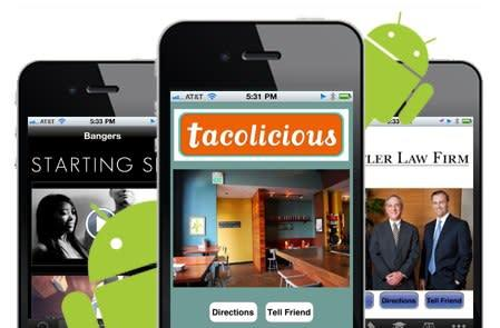 Bizness Apps makes simple mobile apps for your small business