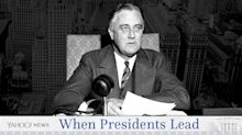 Franklin Delano Roosevelt: Calling a 'bank holiday' for a collapsing economy