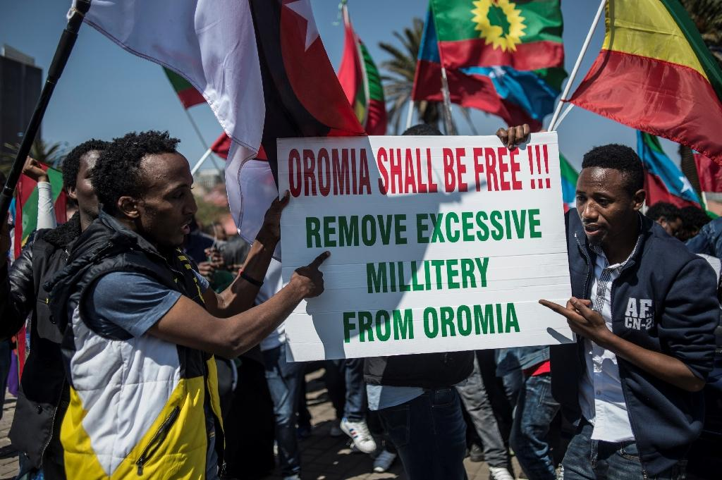 The Oromo protests led to the declaration of a state of emergency (AFP Photo/GULSHAN KHAN)