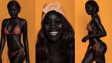Sudanese model nicknamed 'Queen of the Dark' offers stunning display of black beauty