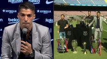 Suárez se despede do Barcelona