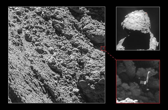 Rosetta probe belatedly finds the Philae comet lander