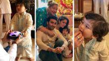 Taimur's Ganpati celebration videos with Kareena and family