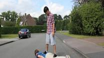 Human skateboard riding, it's not what you think!