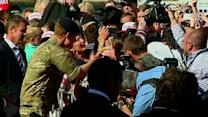 Prince Harry wows the crowd outside the Sydney Opera House