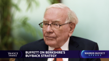 """Legendary investor Warren Buffett explains why stock buybacks make """"nothing but sense"""""""