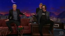 'Dumb and Dumber' reunion: Jim Carrey crashes Jeff Daniels's interview on 'Conan'