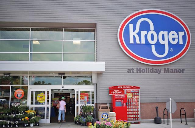 Kroger is the next grocery chain hoping to cut checkout lines