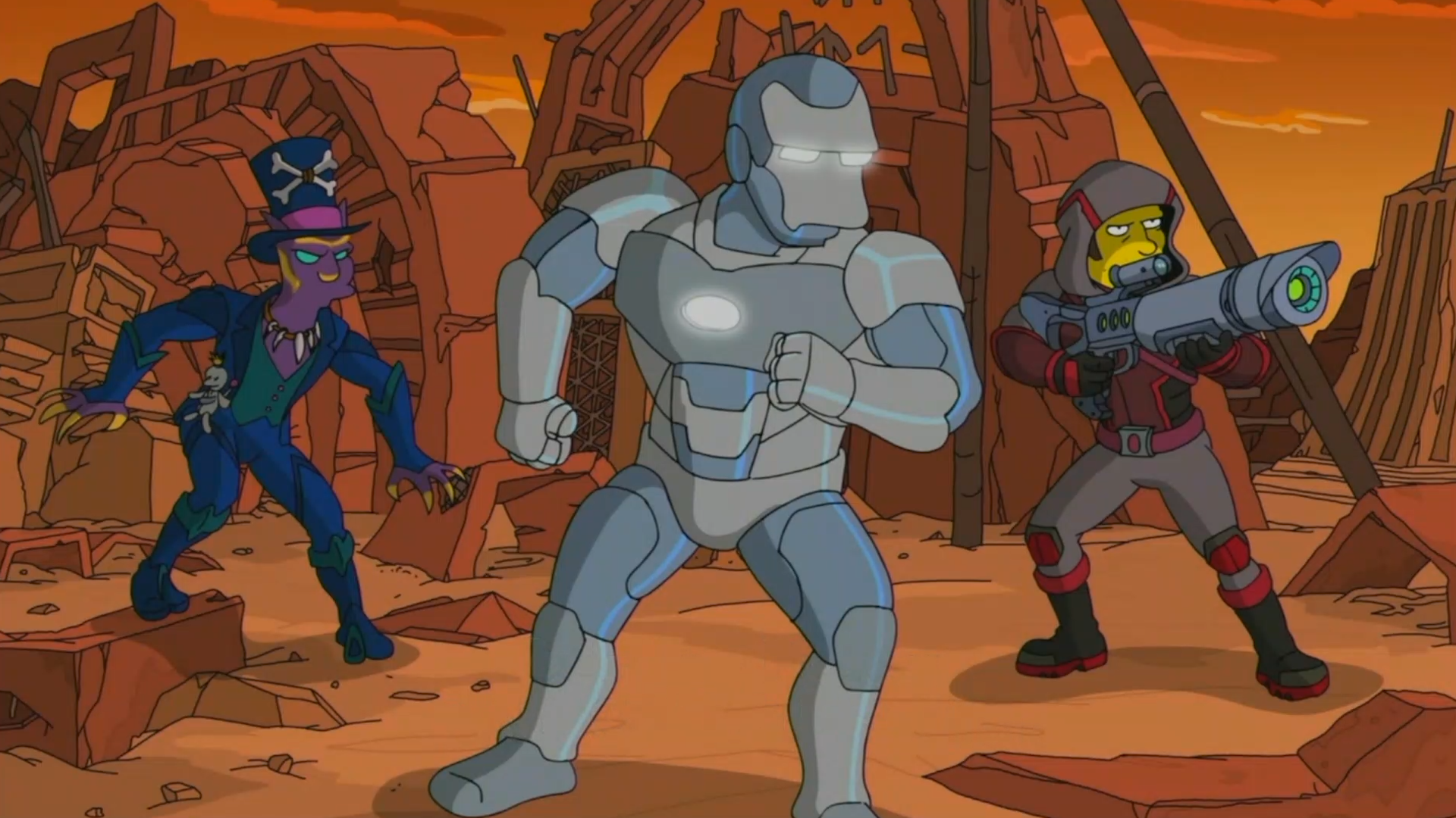 The Simpsons Parodies Avengers And Their Adoring Fans Video
