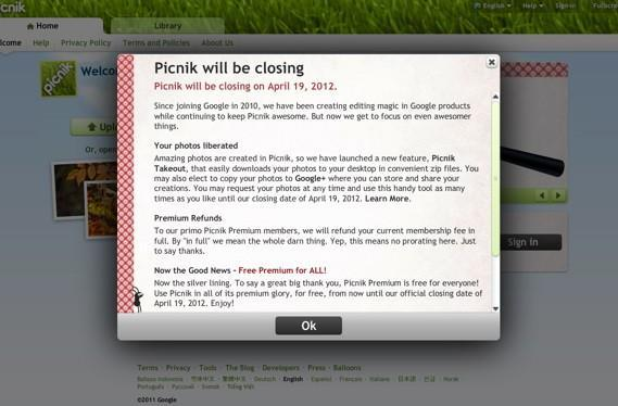 Another one bites the dust as Google closes Picnik