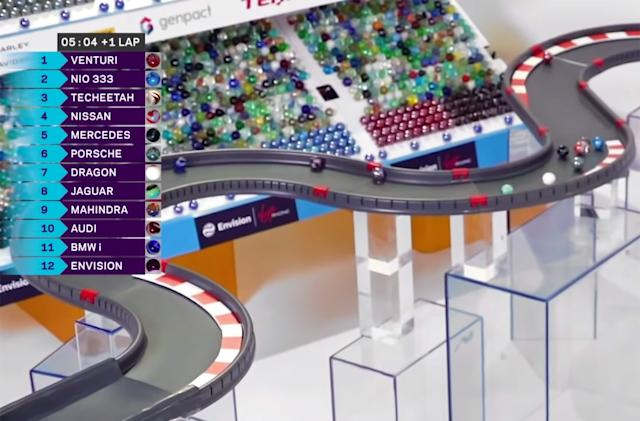 Formula E team fills the sports void with online marble races