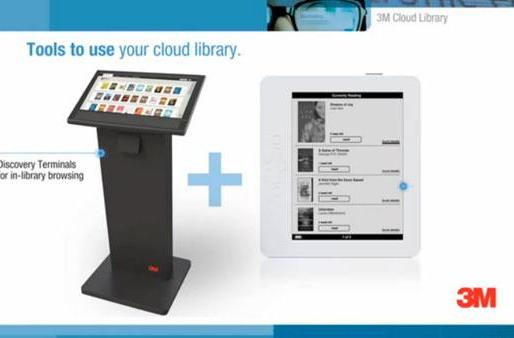 3M launches its Cloud Library e-book lending service, hardware and apps in tow
