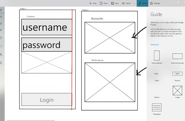 Microsoft's 'Ink to Code' builds an app UI from your sketches
