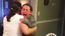 Little girl sobs with joy after discovering her mom is pregnant