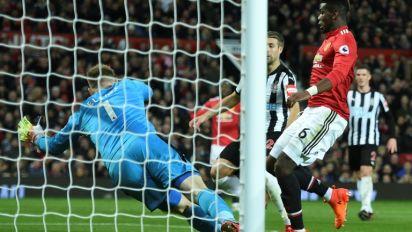 Angleterre: Paul Pogba titulaire et buteur avec Manchester United contre Newcastle