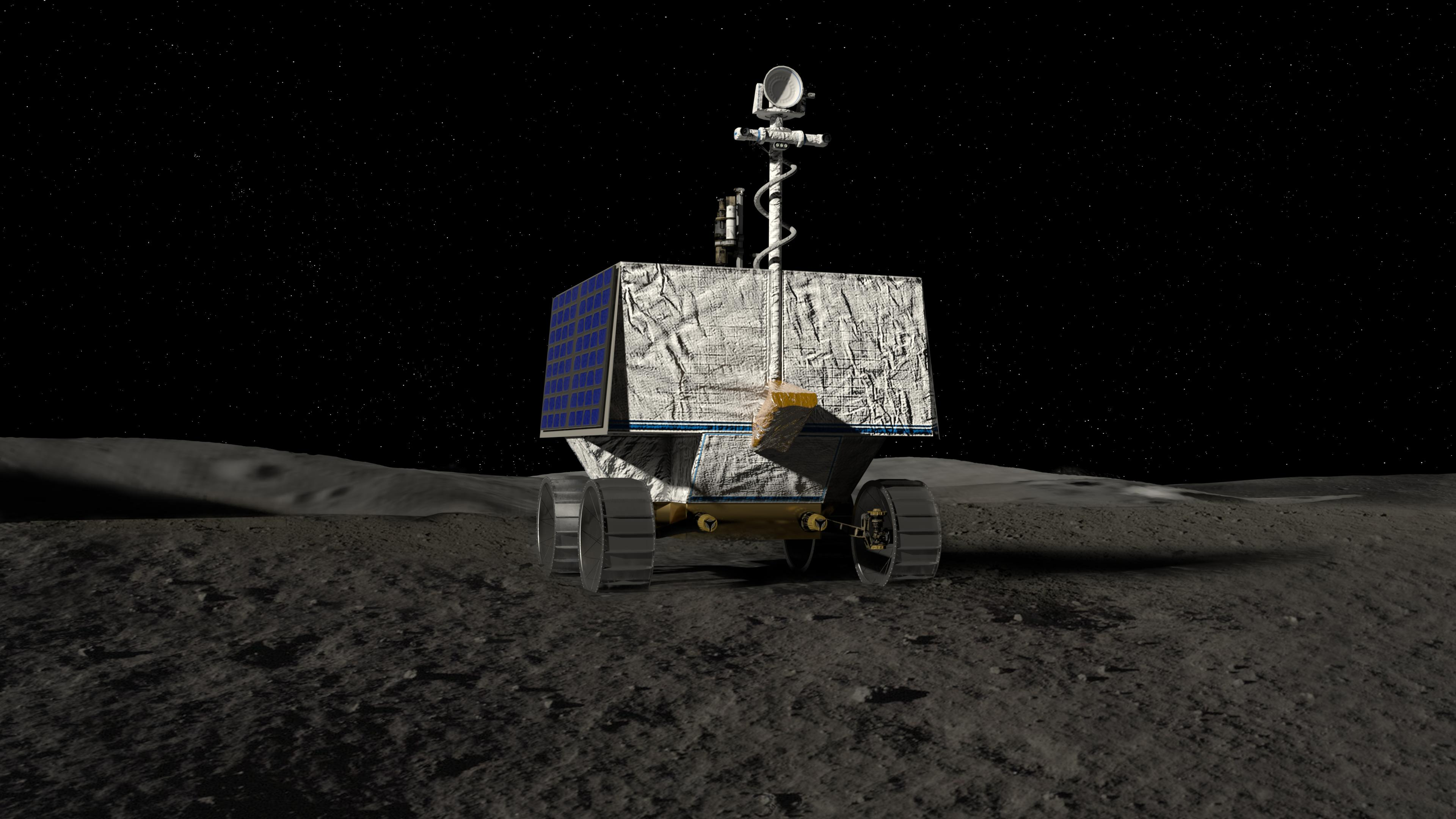 COPY OF NASA's first lunar rover will scour the moon's south pole for water in 2023