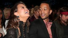 Chrissy Teigen's Night Ends with Her Rolling Around in a White Bodysuit Demanding Help Removing Her Extensions