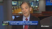 Hanesbrands CEO Gerald Evans discusses Michael Jordan par...