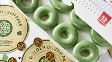 Meet Me at the End of the Rainbow! Krispy Kreme's Selling Green Doughnuts For St. Patrick's Day