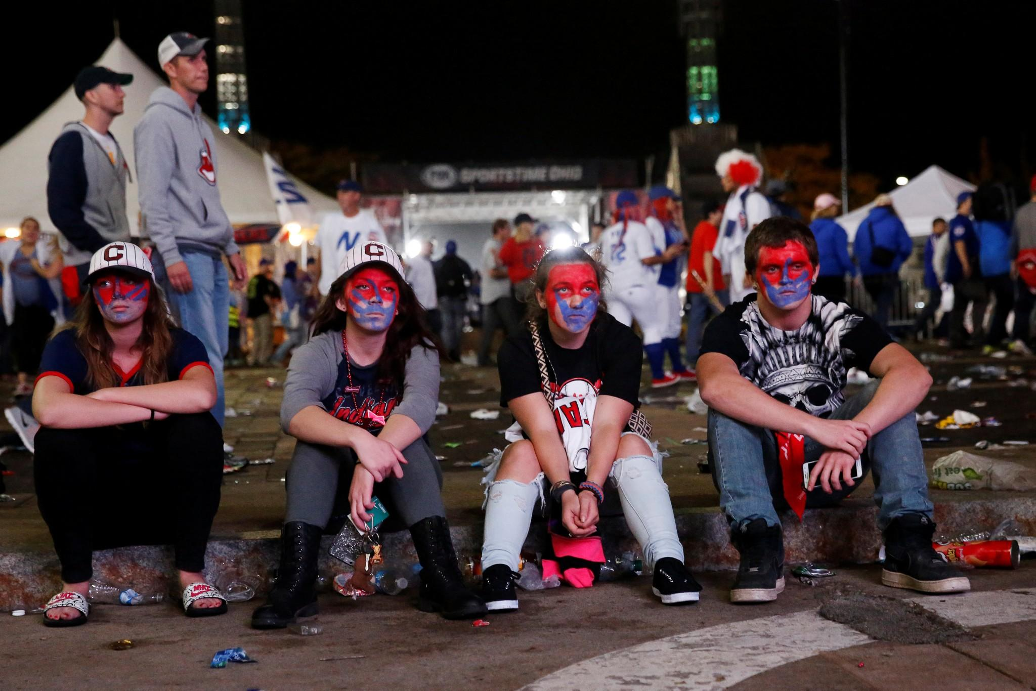 sports shoes ca53b 2573b Faces of defeat: Cleveland Indians players and fans react to ...