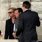 Andy and David Spade Arrive at Kate Spade's Funeral Together in Her Hometown of Kansas City