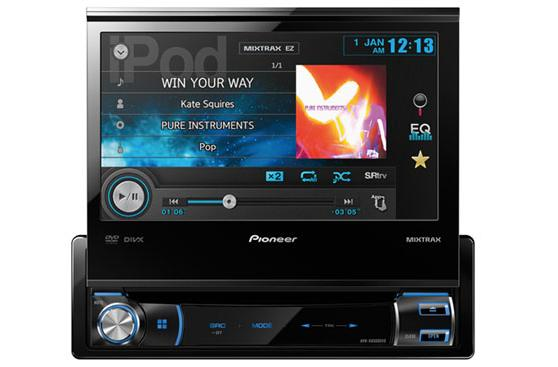 Pioneer breaks the road trip monotony with three new in-dash multimedia DVD receivers at CES