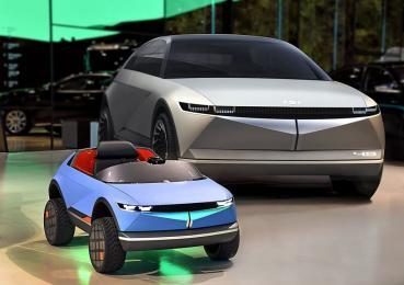 HYUNDAI發表沒有車名但超可愛的迷你電動車,以電動概念車45為設計靈感