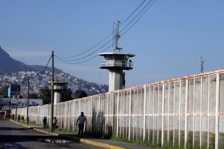 A general view shows the Santa Martha Acatitla prison, where former social development minister Rosario Robles was taken into custody, in Mexico City