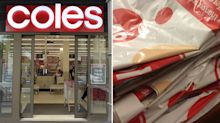 Coles shopper outraged by 27-plastic bag home delivery