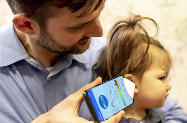 Parents may be able to spot ear infections with a paper cone and an app