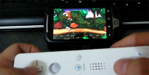 Wii Controller Demo gets active, Android and Wiimote handle Donkey Kong on video