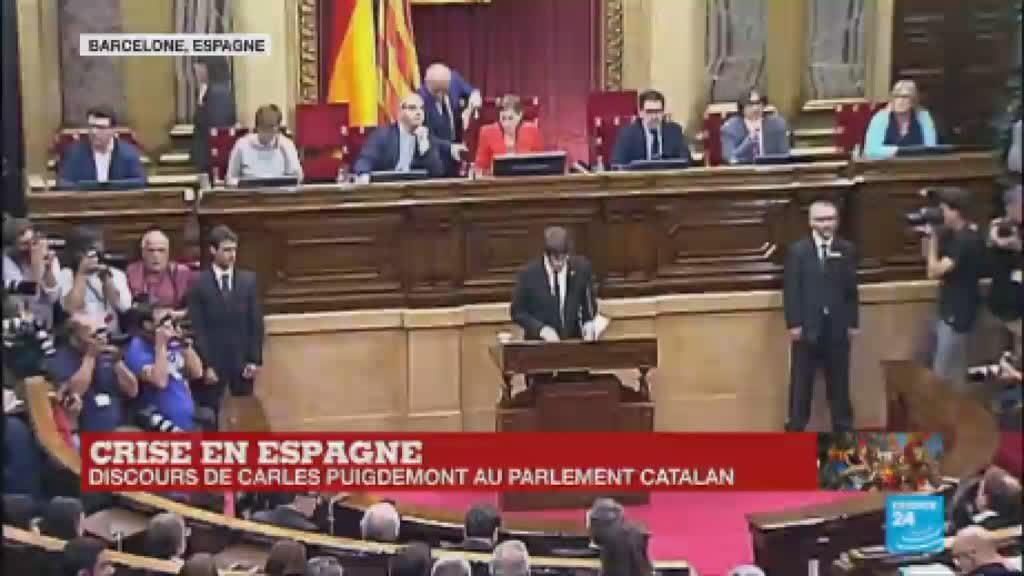 replay discours de carles puigdemont devant le parlement catalan vid o. Black Bedroom Furniture Sets. Home Design Ideas