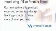 IDT and Premier Farnell Announce New Franchise