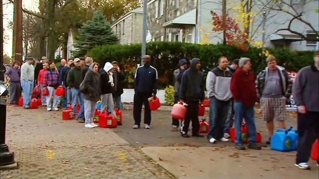 Lines to get gas wrap around several blocks in New Jersey
