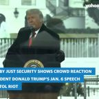 Video shows crowd reaction to Trump's speech before the Capitol riot
