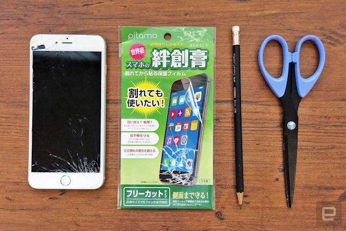 I salvaged my shattered iPhone with a 'Band-Aid' screen cover