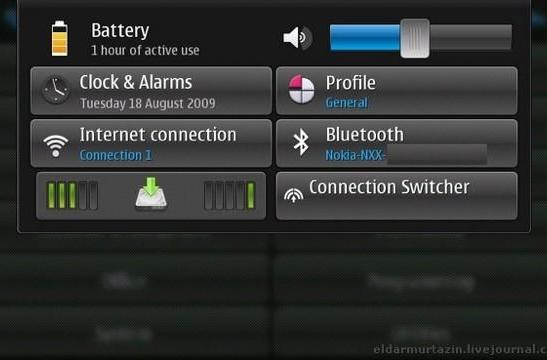 New Maemo 5 screen shows fascinating, unique array of settings