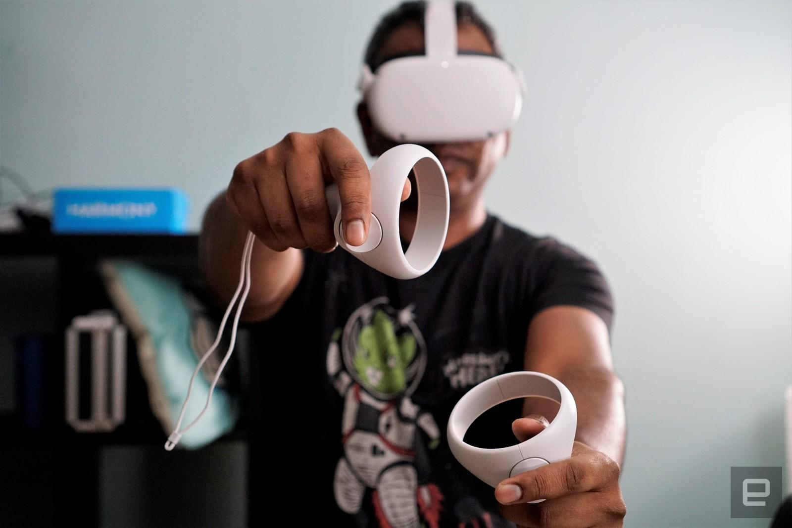 Oculus Quest 2 and Portal devices now respond to 'Hey Facebook' | Engadget