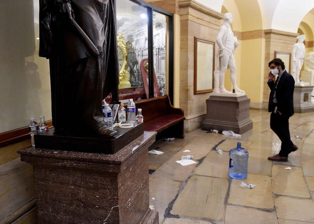Thomas Jefferson statue, James Madison portrait among artifacts damaged in Capitol riot, officials say