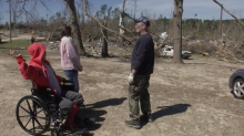 Family says son is a 'hero' after he digs them out of tornado debris