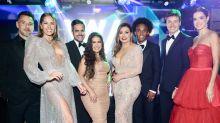 Casais famosos brasileiros curtem evento de gala em Londres