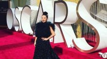 Lainey Lui Nods To Her Chinese Roots In A Reworn Dress By Stephan Caras At Oscars